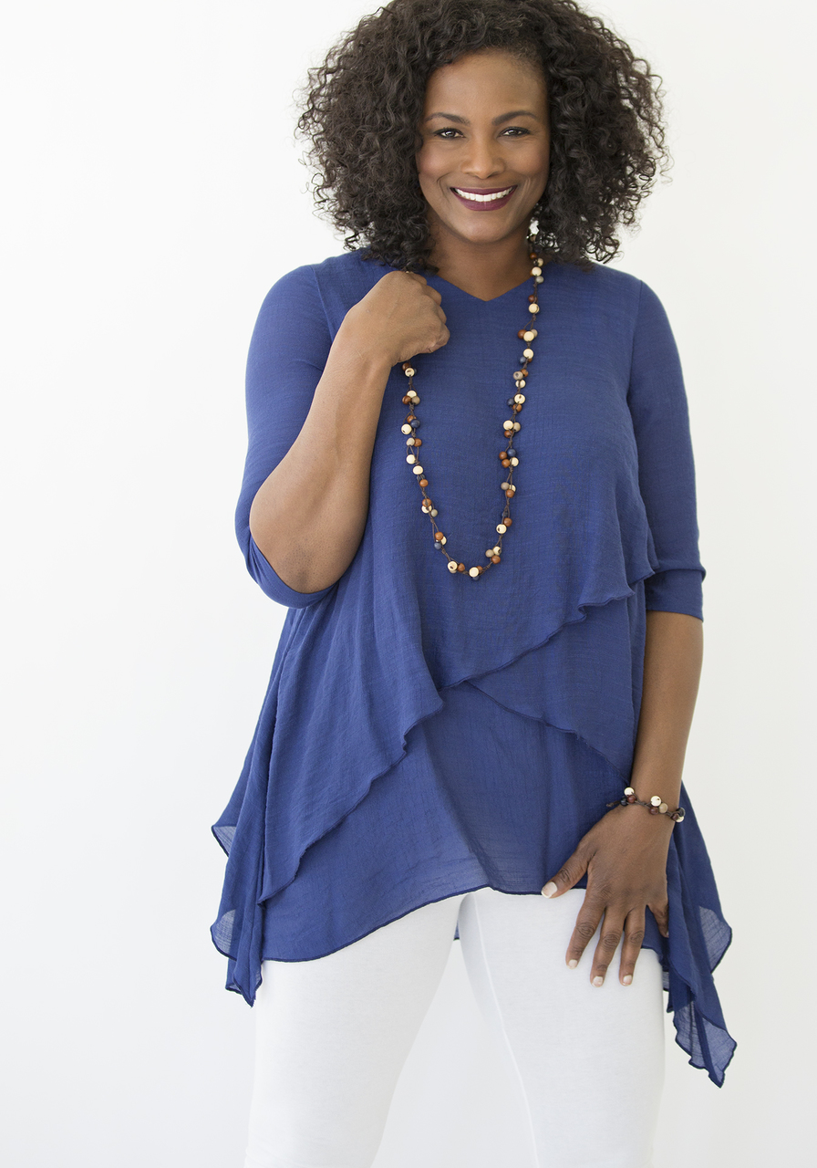 Athena Tunic - Navy