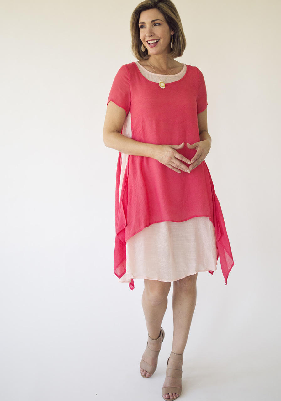 Sunday Morning Dress –Coral