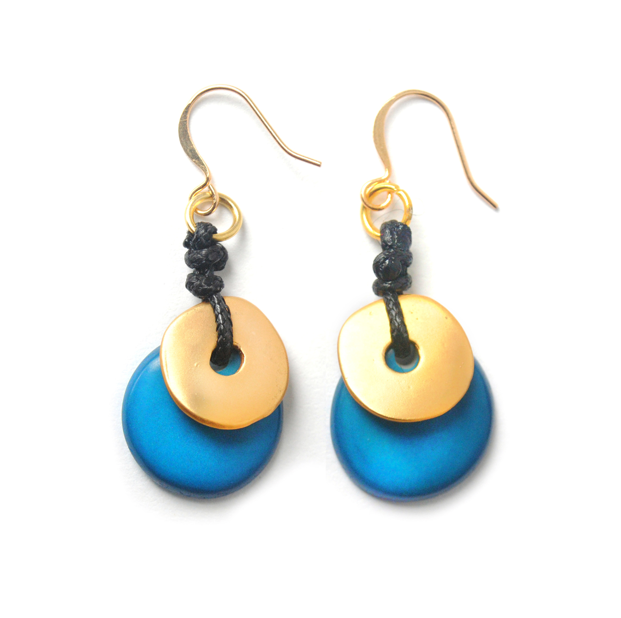 Moon Eclipse Earrings – Blue