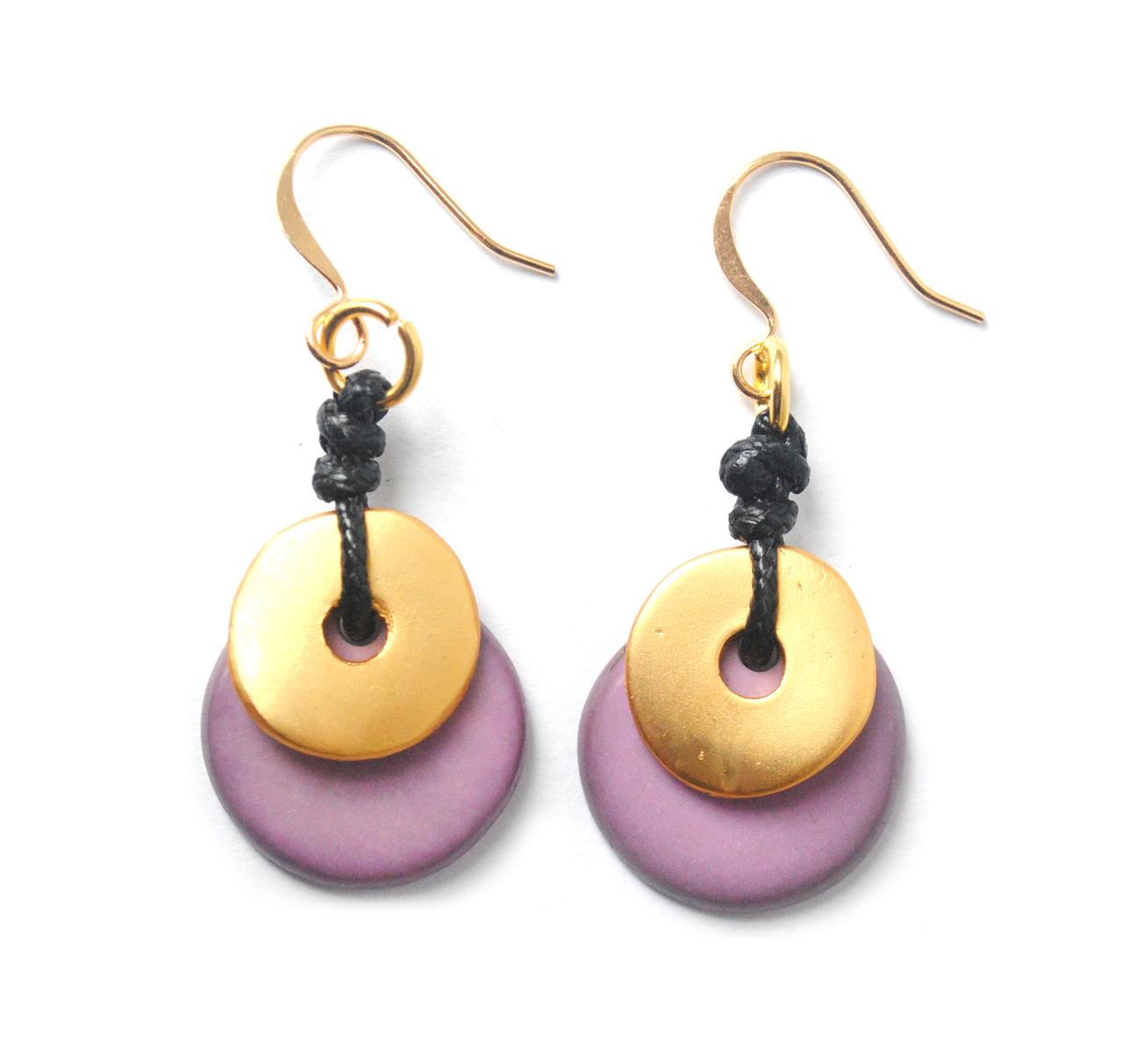 Moon Eclipse Earrings – Lavender