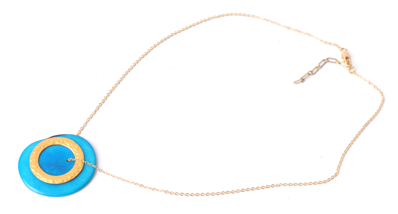 Solar Eclipse Necklace –Blue