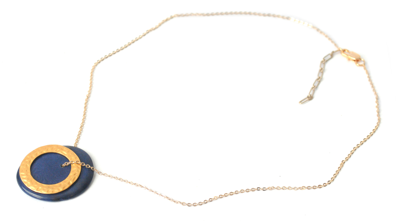 Solar Eclipse Necklace – Navy