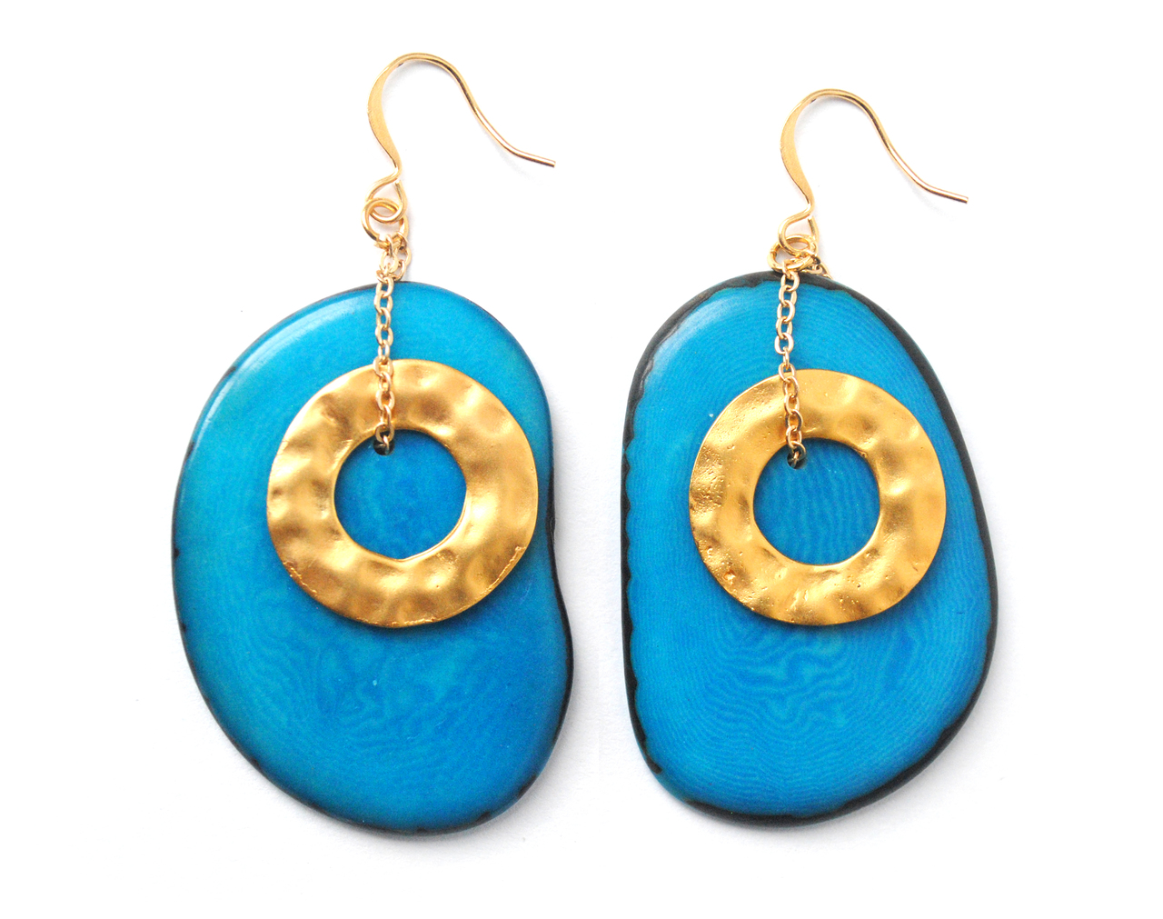 Solar Eclipse Earrings – Blue