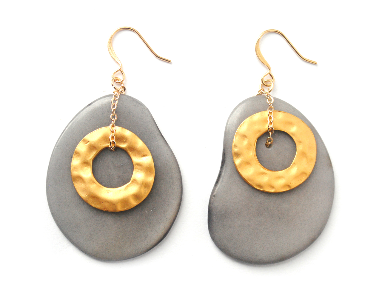 Solar Eclipse Earrings – Gray
