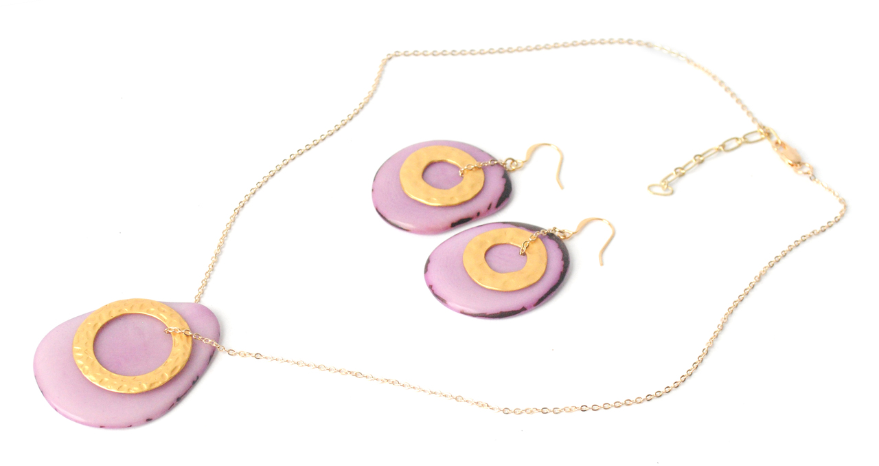 Solar Eclipse Earrings – Lavender