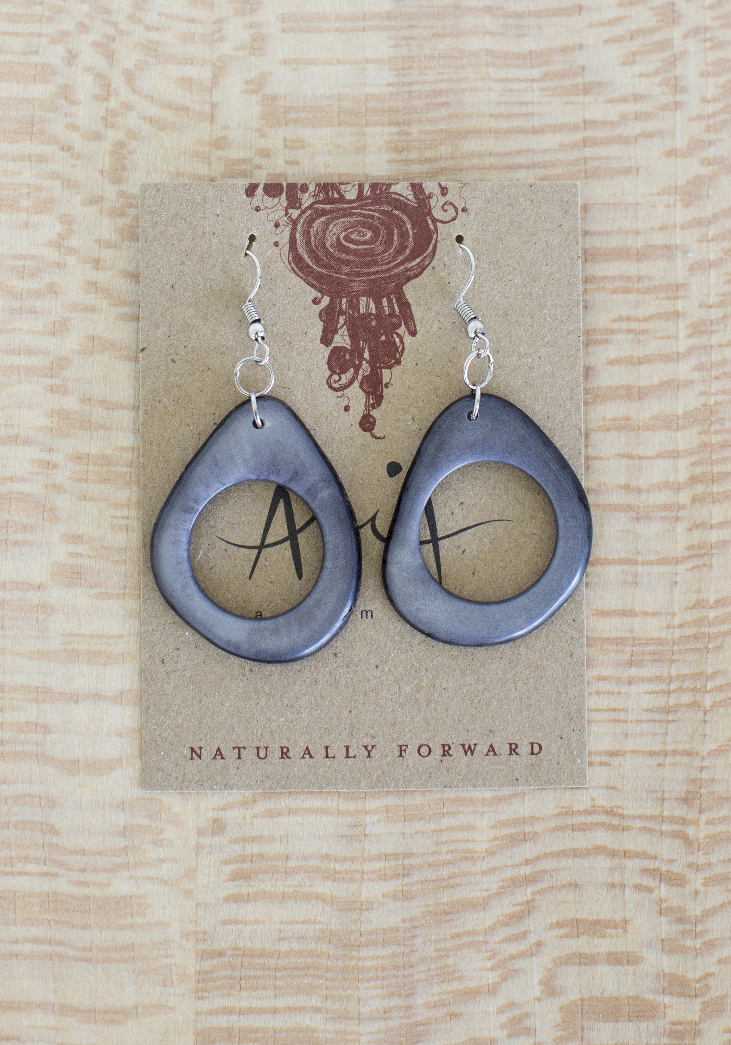Tagua Doughnut Earrings