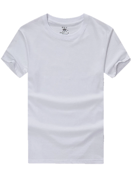 Pj's Single Piece V neck T shirts for Gas Stations and Convenience Stores White Color