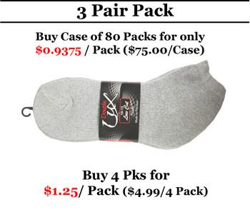 DoubleLux Sports Low Cut Socks Grey -EZTMART.COM