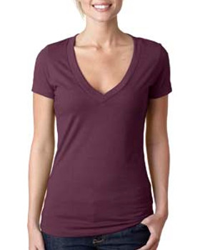 Next Level Ladies' CVC Deep V Tee - 6640