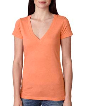 Next Level Ladies' Triblend Deep V- 6740