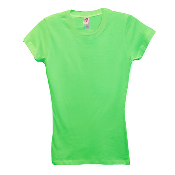 Imported Ladies 100% Cotton Round Neck T-shirts - LCPS