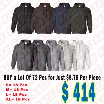 Lot of 72 IR Adult Heavy Blend  8 oz. 50/50 Hood Case Pack