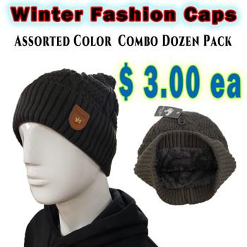 Wholesale White Wolf Monotone Fashion Winter Hats - RF003