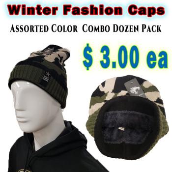 Wholesale Comouflaged Winter Hats - RF005