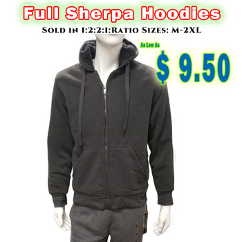 Full Sherpa Line Hooded Zipper Jackets