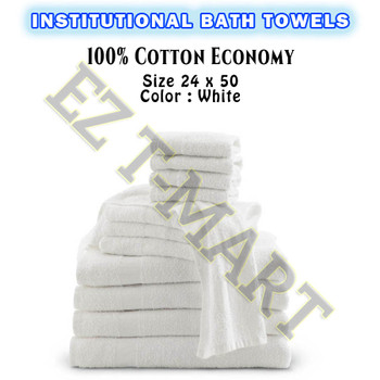 72 Pcs Bale 100% Cotton Standard Bath Towels