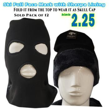 Wholesale Ski Mask with Sherpa Lining .