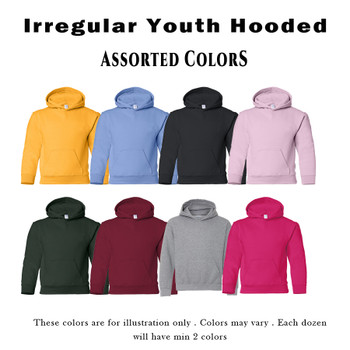 IR Youth Heavy Blend  8 oz., 50/50 Hooded Pullover Dozen and Case Pack