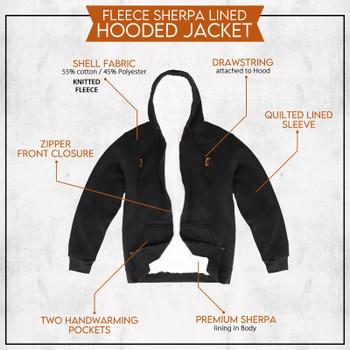URBAN 360 Hooded Sherpa Lining Full Zip Jacket