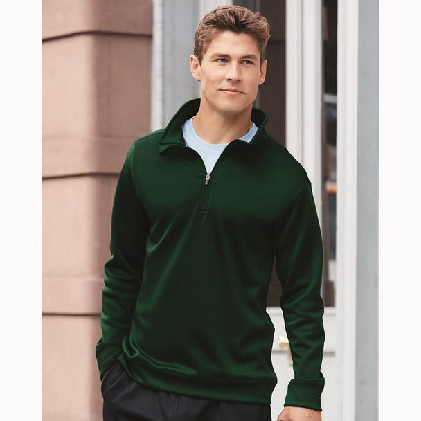R Gildan Adult Performance® 7 oz. Tech Quarter-Zip Sweatshirt at EZ T- Mart