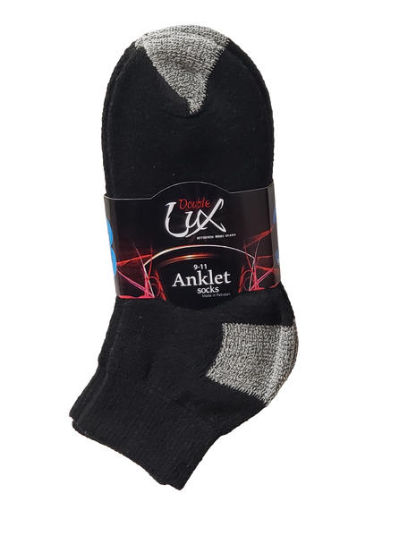 Lot of 240 Packs Double Lux Sports Ankle Socks ANKPWHI
