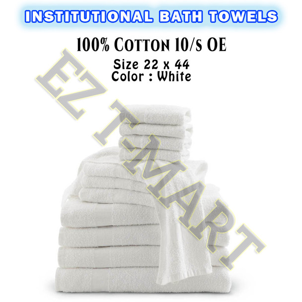 144 PC Bale 100% Cotton Economy Bath Towels