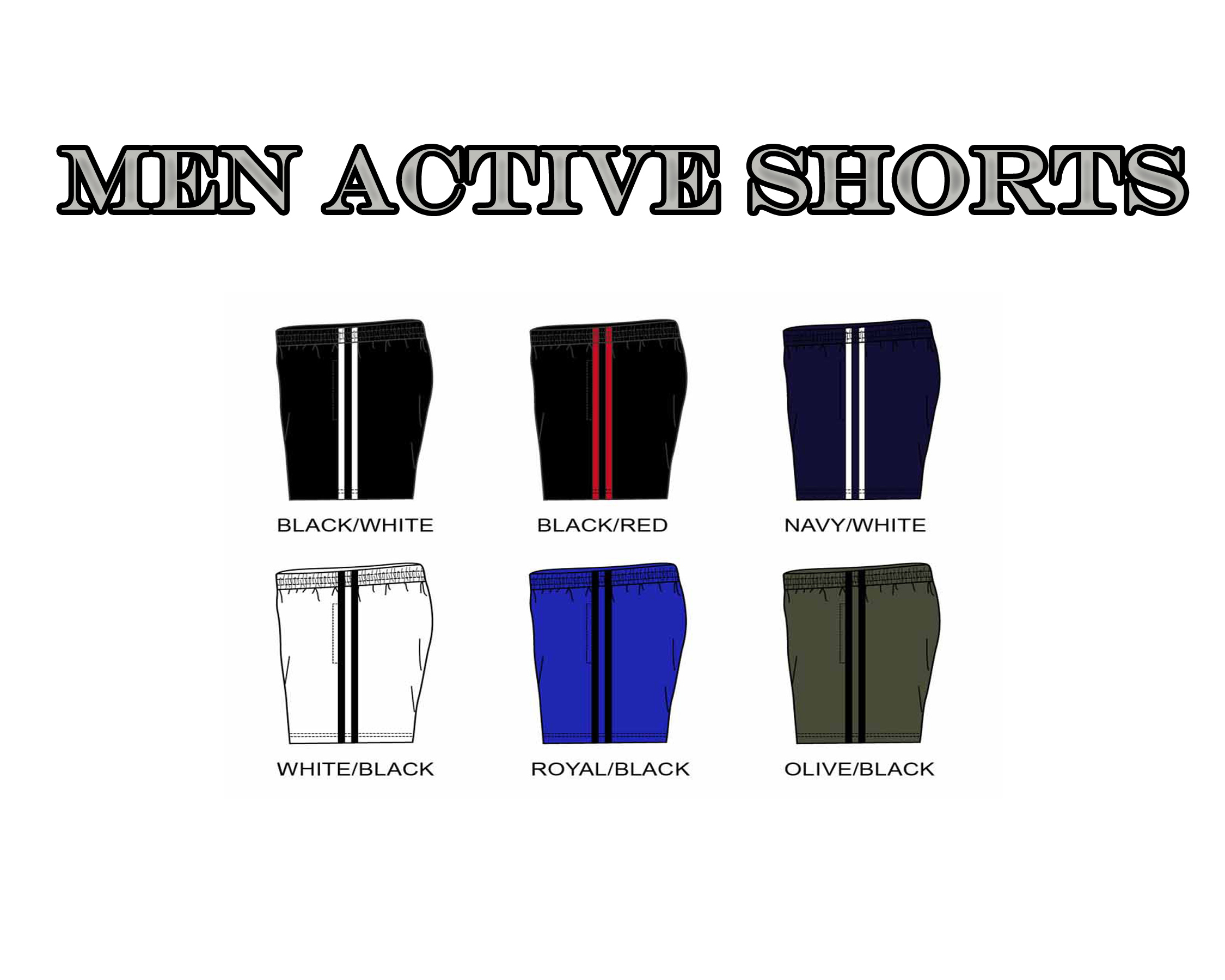 Active Shorts 100% Polyester