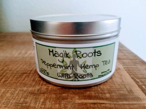 Whole Plant Hemp + Roots Combined with Peppermint Leaf Tea – 500mg Per Tin of (10) – 250mg Per Tin of (5) 