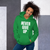NEVER GIVE UP - White Letter Hooded Sweatshirt