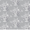 Backing Fabric - Stone Flower - Grey