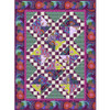 Magenta Song and Dance Lap Quilt