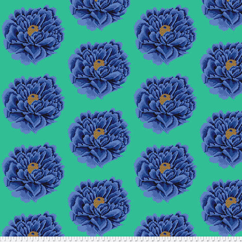 Backing Fabric -Full Blown - Blue