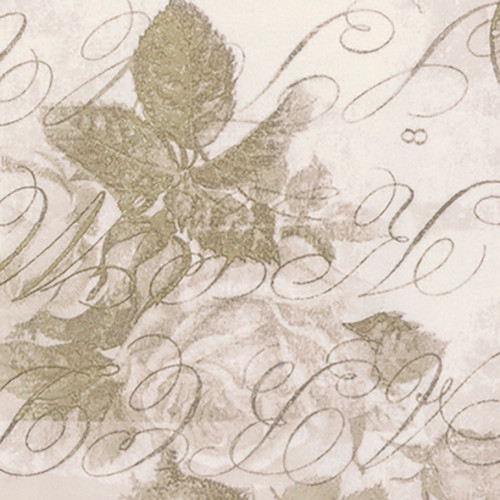 Backing Fabric -Rose Parcel - Taupe