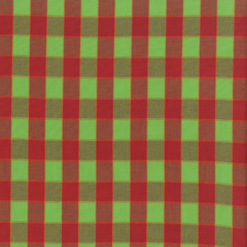 Checkerboard Plaid Ikat - Red