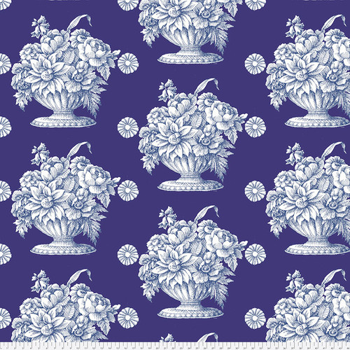 Backing Fabric - Stone Flower - Royal