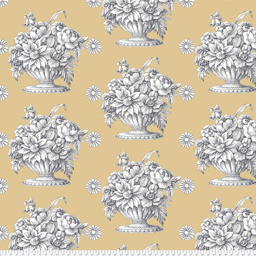 Backing Fabric - Stone Flower - Beige