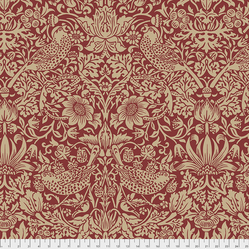 Backing Fabric - Strawberry Thief - Red