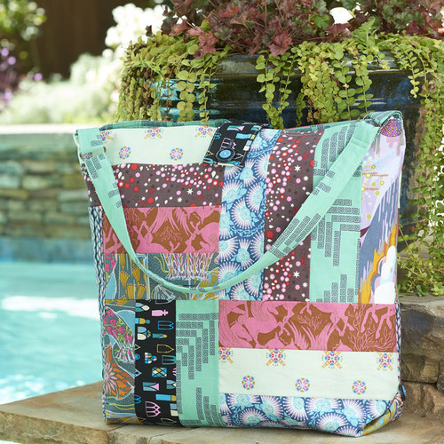 Patchwork Carryall featuring Fibs and Fables