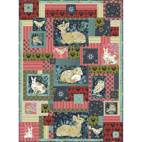 Woodland Dreaming Quilt featuring Land Art