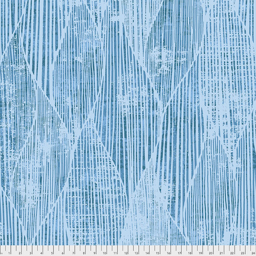 Backing Fabric - Frequency - Blue