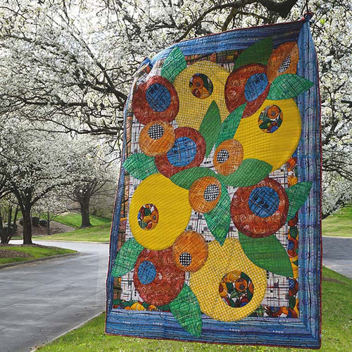 """""""Bouquet"""" Free Baby Quilt Pattern designed by Katie Pasquini-Masopust from Free Spirit Fabrics"""