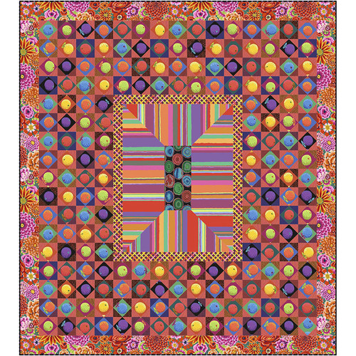 """Sunset Boulevard"" Free Medallion Quilt Pattern designed by Kaffe Fassett from Free Spirit Fabrics"