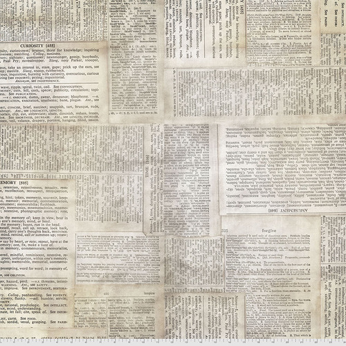 Backing Fabric - Dictionary - Neutral || Elements Quilt Backs