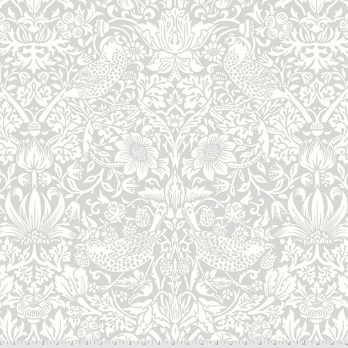 Backing Fabric - Strawberry Thief - Silver