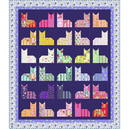 Cheshire Cats Diva Quilt featuring Curiouser and Curiouser