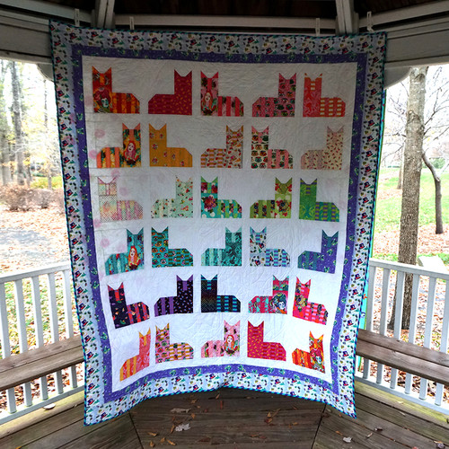 Cheshire Cats Flake Quilt featuring Curiouser and Curiouser