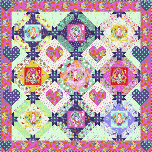 Queen of Hearts Quilt featuring Curiouser and Curiouser