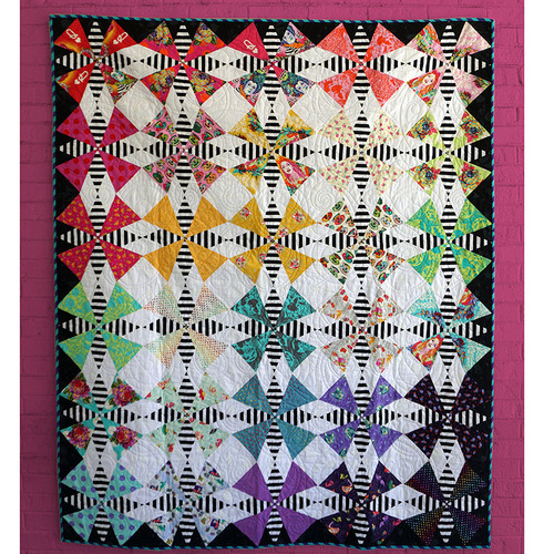 The Hatter Quilt featuring Curiouser and Curiouser & Linework