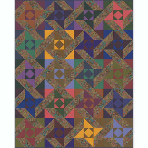 Spinning Stars Quilt featuring Shot Cottons