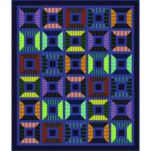 Spooling Around Quilt featuring Shot Cotton Stripes